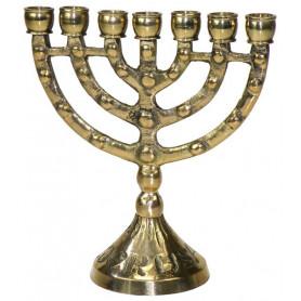 Menorah dorée 10 cm - 74564