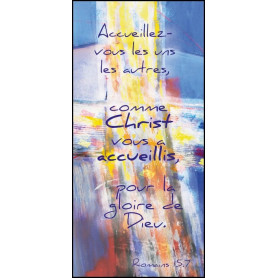Marque-page magnet Accueillez-vous les uns les autres comme Christ vous a accueillis…