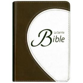 Bible Segond 1910 compacte souple duo marron/crème – CLCB160