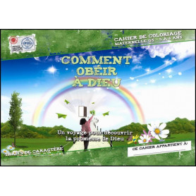 Comment obéir à Dieu 5 à 6 ans – Cahier de coloriage - PGE