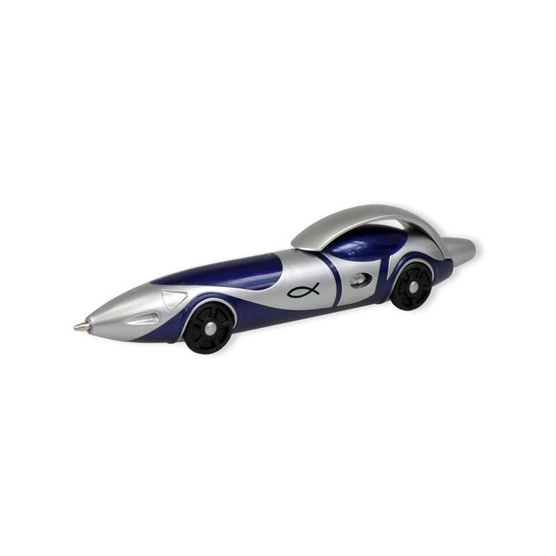 stylo voiture ichthus bleu 71834 uljo la centrale biblique. Black Bedroom Furniture Sets. Home Design Ideas