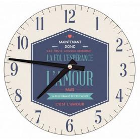 Horloge murale Foi Espérance Amour 20,5 cm – HO-A-007