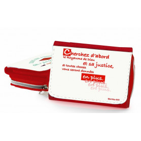 Portefeuille rouge Cherchez d'abord – PO-B-018