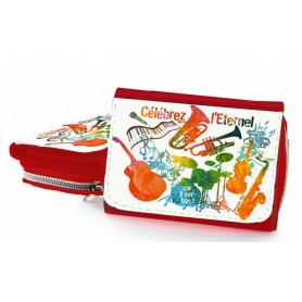 Portefeuille rouge Célébrez l'Eternel car il est bon – PO-B-008 – 1 pièce