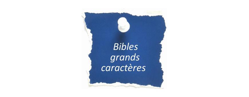 Bibles grands caractères