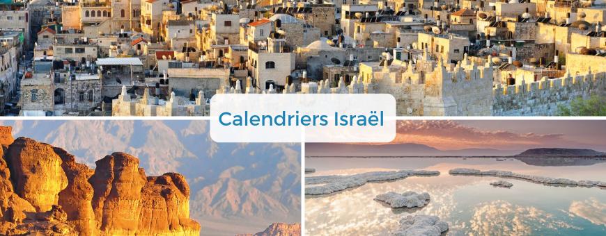 Calendriers Israël avec versets bibliques