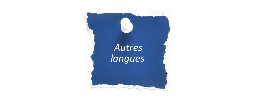 CD Autres langues que le français ou l'anglais