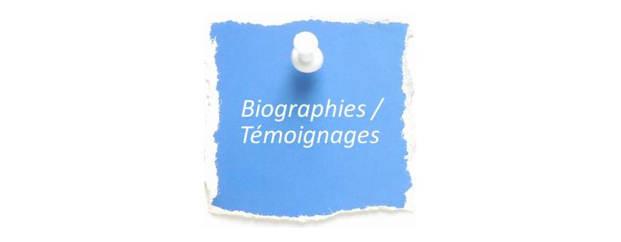 Biographies et témoignages pour les enfants de 9 à 12 ans