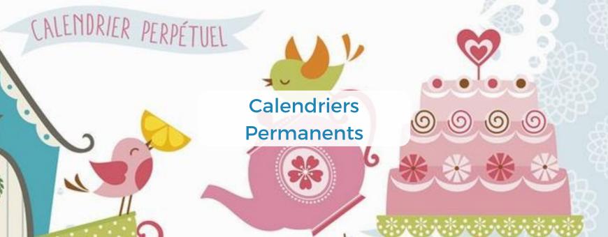 Des calendriers bibliques perpétuels pour noter les dates d'anniversaires de vos proches