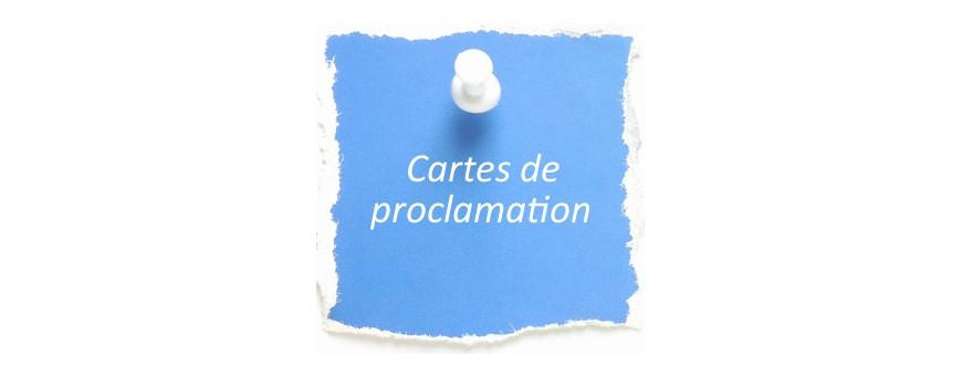 Cartes de proclamation