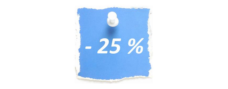 Soldes - 25 %